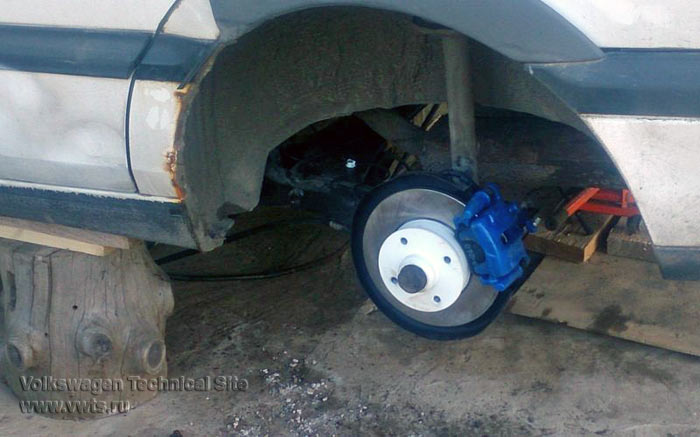 Переделка барабанных тормозов в дисковые и замена балки заднего моста