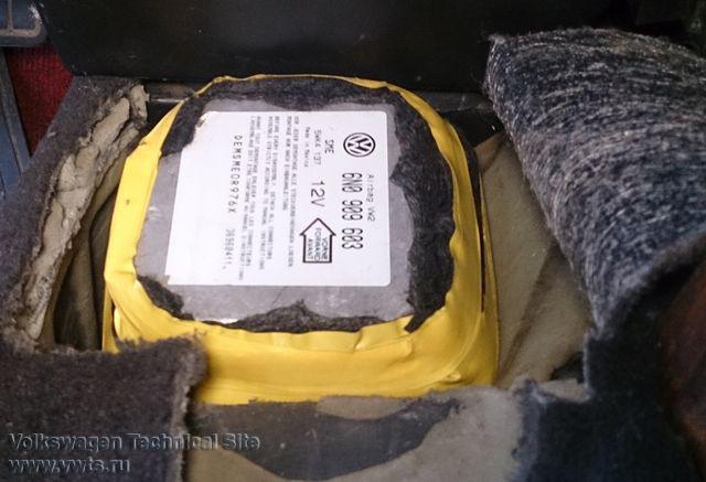 Установка подушек безопасности в Пассат В3 от В4