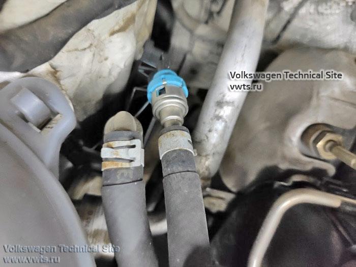 Быстросъемные соединения топливопроводов двигатель 1,6 TDI Common Rail