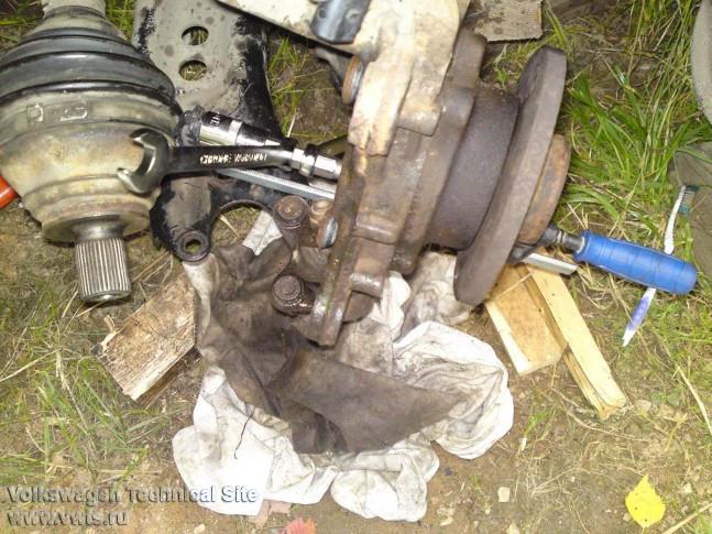 Замена передней ступицы VW Touran своими руками