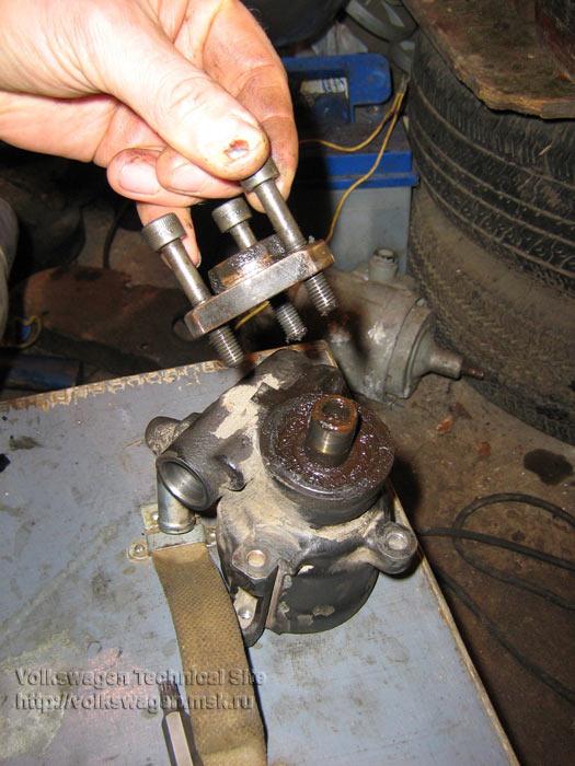 Разборка, ремонт ГУР на VW Passat B3