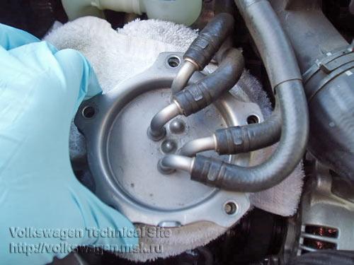Замена топливного фильтра на двигателе BKD