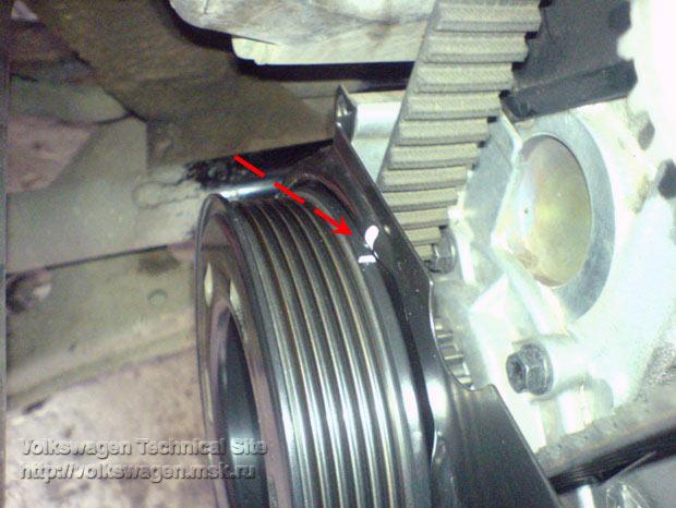 Замена помпы на двигателе Фольксваген BFQ