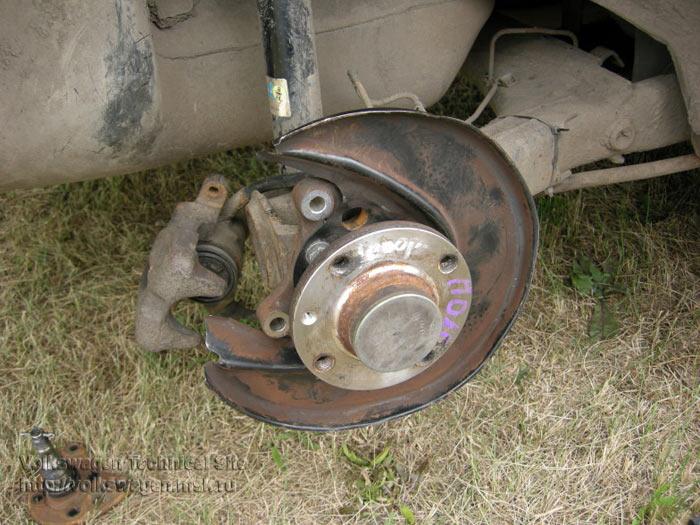 volkswagen задние дисковые тормоза