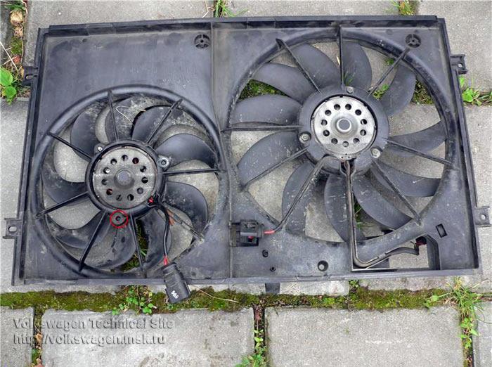 Ремонт вентилятора кондиционера VW Touran