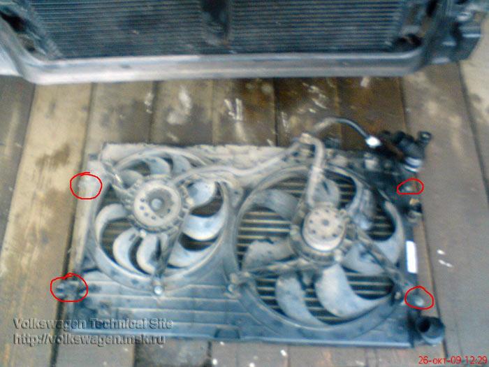 Замена радиатора на Фольксваген Гольф 4