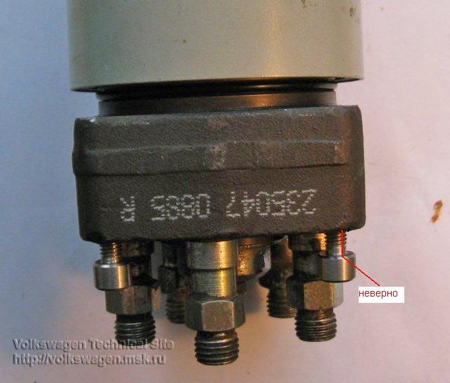 Замена уплотнителя корпуса плунжерной пары ТНВД