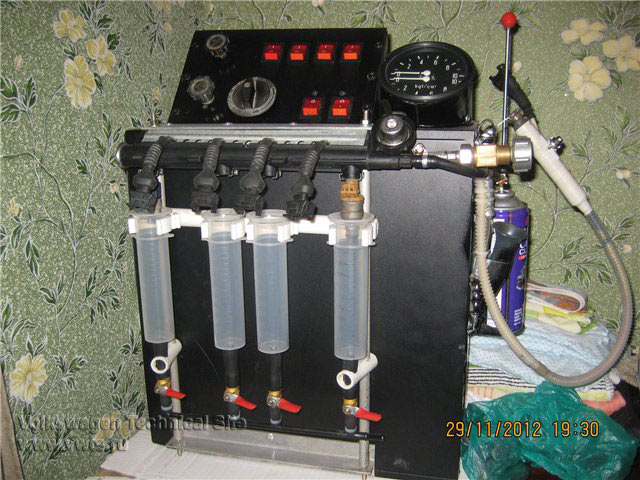 Самодельный стенд для промывки форсунках - Самодельный стенд для промывки форсунок бортжурнал Nissan Pathfinder
