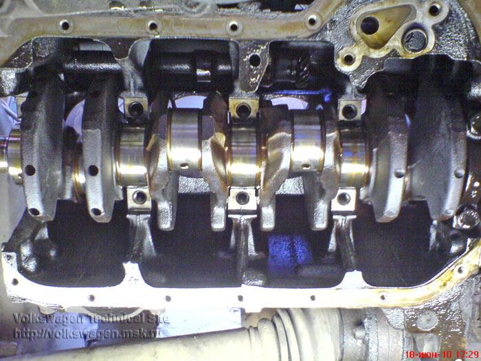 Переборка двигателя RP на VW Passat B3