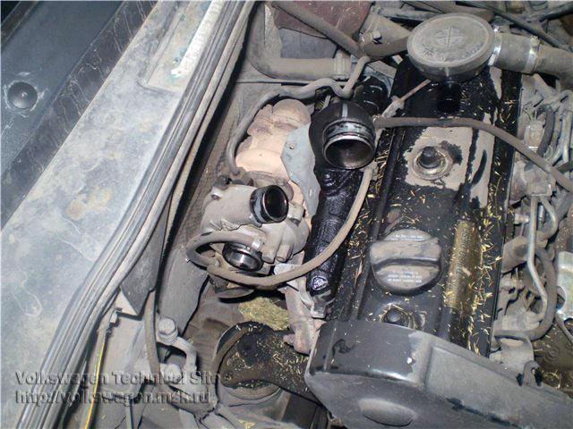 Замена турбины на VW Golf 3 двигатель AAZ