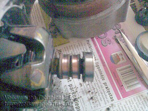 Замена токосъёмных колец генератора Bosch 65 Ампер