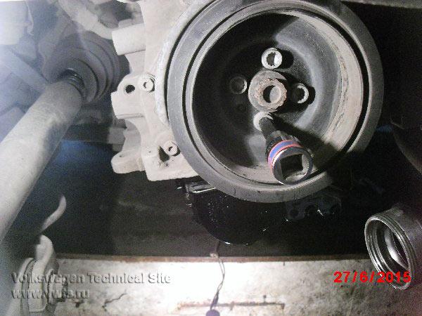 Ремонт выравнивающего вала привода масляного насоса