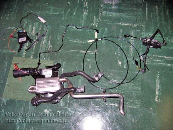 Установка жидкостного нагревателя Webasto