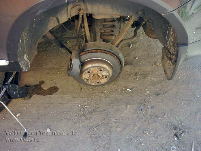 Переборка задних суппортов VW Touareg