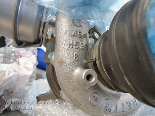 Снятие турбины на двигателе BKD