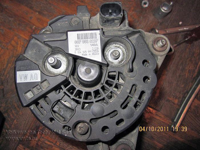 Замена реле зарядки генератора Bosch
