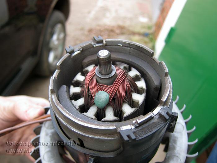 Ремонт электродвигателя печки VW Touareg