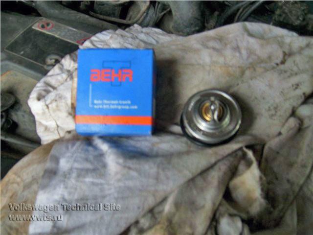 Замена термостата двигатель 1Z