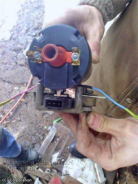 Замена катушки зажигания vw passat b3 Регулировка раздатки и узла переключения передач джентра