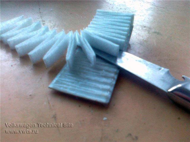 Изготовление салонного фильтра для Фольксваген Пассат Б3