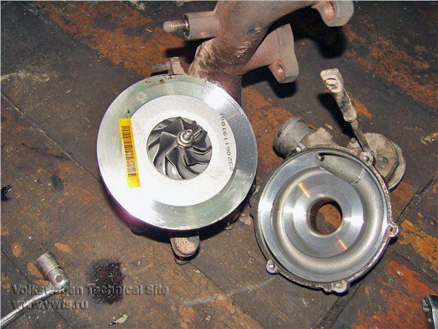 Снятие турбины на двигателе BNM