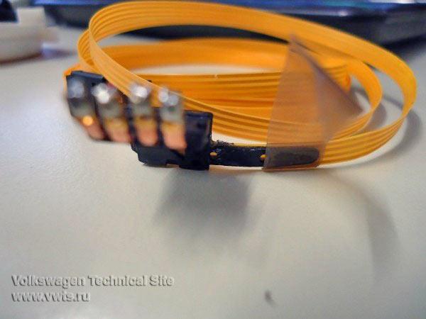 Ремонт усилителя руля (ЭУР) 2 поколения - Гибкий шлейф четырехпроводный