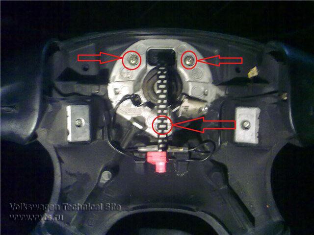 Снятие руля и восстановления шлейфа Airbag Фольксваген Пассат
