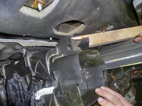 Замена радиатора печки на Фольксваген Шаран