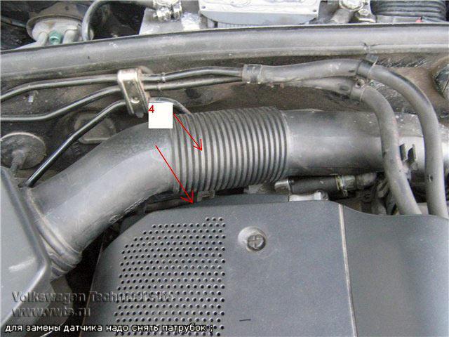 Замена датчика температуры охлаждающей жидкости Фольксваген Пассат Б5