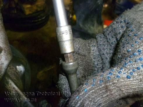 VW Sharan снятие МКПП 02N, монтаж передней раздатки